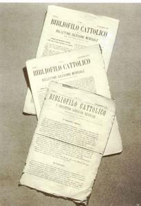 """Okładka pierwszego numeru """"Wiadomości salezjańskich"""" wydawanych jeszcze przez ks. Bosko. Rok 1877."""", viršeliai. 1877 metai."""