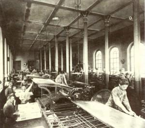 """Drukarnia na Valdocco w 1879 r. gdzie były drukowane """"Wiadomości salezjańskie"""" ks. Bosko"""
