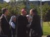 Apaštališkasis nuncijus vysk.  Luigi Bonazzi ir Milano saleziečių vyresnysis (inspektorius) kun. Agostino Sosio SDB