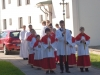 Prieš pradedant Šv. Mišias rikiuojasi procesija