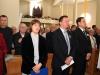 Šv. Mišių dalyviai. Iš kairės parapijos pastoracinės tarybos narė, Vilniaus m. mero pavaduotojas Jaroslav Kaminski, eurodeputatas Waldemar Tomaszewski