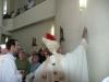Bažnyčios sienų patepimas aliejumi krizma