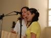 Giedama psalmė – Sabina ir Marina, choro vadovės