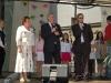 Iš kairės Vilniaus rajono merė Maria Reksc, Lenkijos miesto meras Adam Fudali, kun. Jacek Paszenda SDB