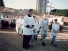 1996 m. rugpjūčio 12 d. Šventinamas bažnyčios kertinis akmuo