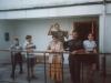 1997 m. Oratorijos vaikai. Pirmame plane - vargonininkė Vitalija Valiukevičiūtė ir zakristijonas Antanas Streukovskis