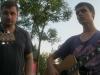 Kun. Irenijus ir Marek Jodko (animatorius-gitaristas)