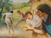 Jonas turėjo du brolius, Antaną ir Juozą. Jie pašėlusiai norėjo žaisti ir dūkti.