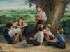 """Ilgų atostogų metu Jonas buvo nuolat apsuptas vaikų. """"Be žaidimų ir pasakojimų, mokiau juos katekizmo bei krikščioniškų maldų."""""""