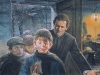 Vakare protingiausieji jaunuoliai grupelėmis susirinkdavo pas kun. Bosko, kuris juos mokydavo.